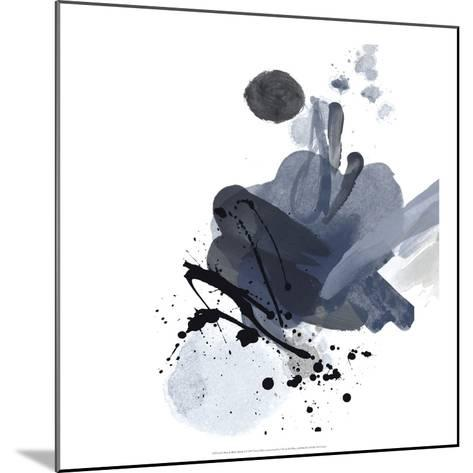 Blue & Black Splash I-Irena Orlov-Mounted Art Print