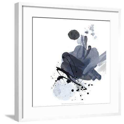 Blue & Black Splash I-Irena Orlov-Framed Art Print
