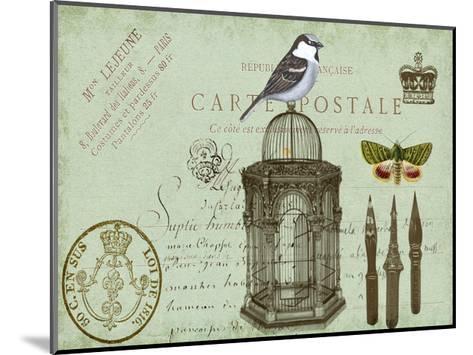 Postcards of Paris II-Sandy Lloyd-Mounted Art Print