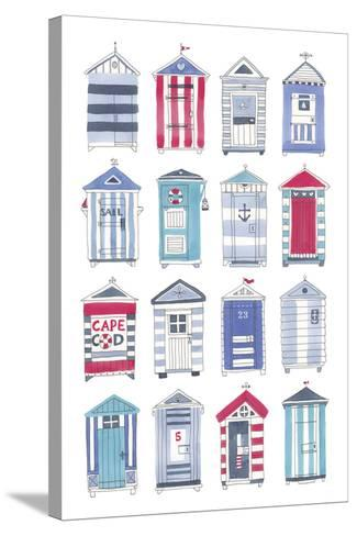 Beach Hut Splendor-Sandra Jacobs-Stretched Canvas Print