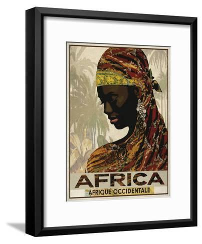 Vintage Travel Africa-The Portmanteau Collection-Framed Art Print