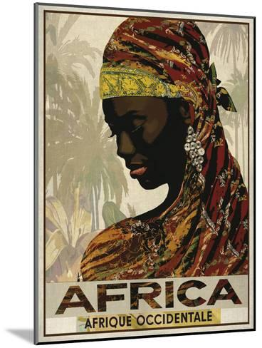 Vintage Travel Africa-The Portmanteau Collection-Mounted Art Print