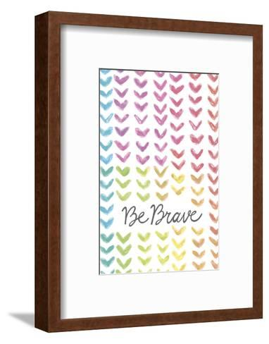 Vibrant - Be Brave-Lottie Fontaine-Framed Art Print