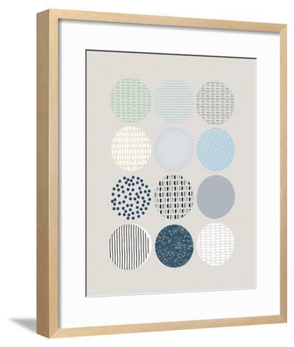 Scandi Circles-Clara Wells-Framed Art Print