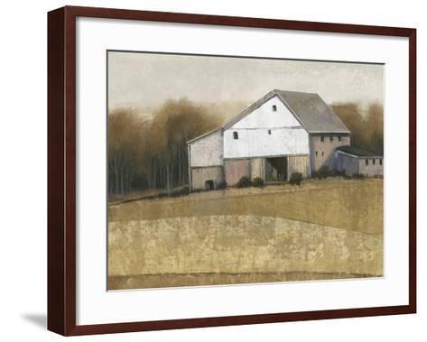 White Barn View I-Tim O'toole-Framed Art Print