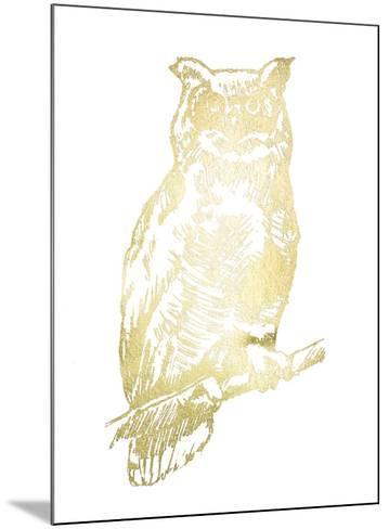 Gold Foil Owl II-Jennifer Goldberger-Mounted Art Print