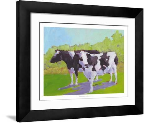 Pasture Cows II-Carol Young-Framed Art Print