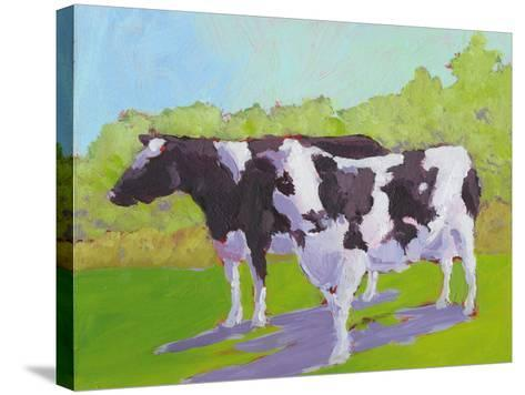 Pasture Cows II-Carol Young-Stretched Canvas Print