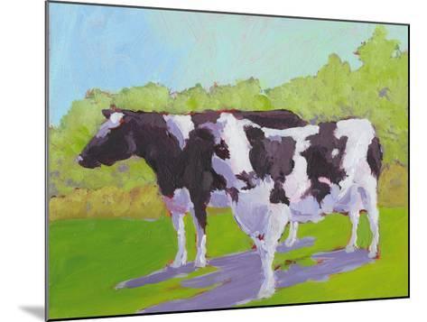 Pasture Cows II-Carol Young-Mounted Art Print