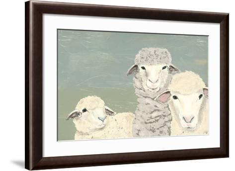 Bashful Sheep II-Jade Reynolds-Framed Art Print