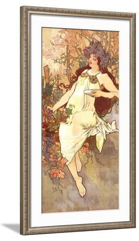 Fall-Alphonse Mucha-Framed Art Print
