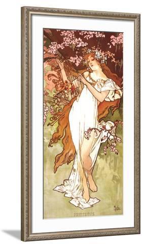 Spring-Alphonse Mucha-Framed Art Print