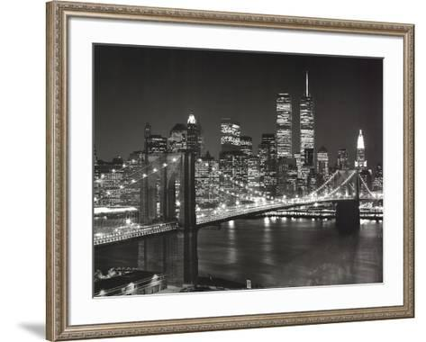 Top View Brooklyn Bridge-Henri Silberman-Framed Art Print