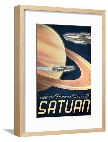 Furture Saturn, Visit the Historic Rings of Saturn-Lynx Art Collection-Framed Art Print