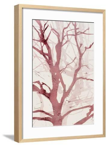 Arbres (Rouge), 2015-Marie-Cecile Clause-Framed Art Print