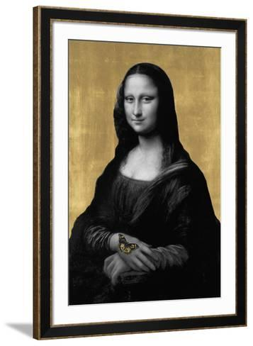 Gilded Enigma (after Leonardo da Vinci)-Eccentric Accents-Framed Art Print