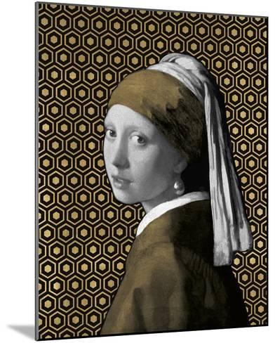 Gilded Earring (after Jan Vermeer)-Eccentric Accents-Mounted Giclee Print
