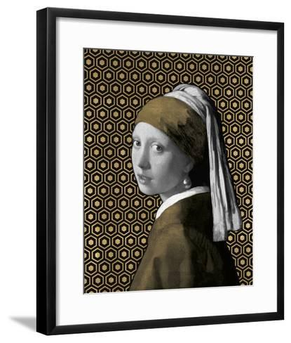 Gilded Earring (after Jan Vermeer)-Eccentric Accents-Framed Art Print