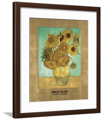 Sunflowers - Break Glass (after Vincent Van Gogh)-Eccentric Accents-Framed Art Print