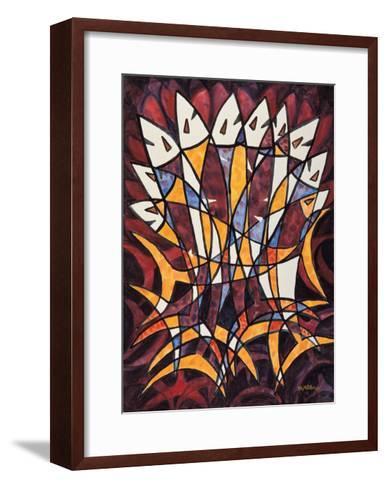 Over Lapped Fish-Chuankuei Hung-Framed Art Print