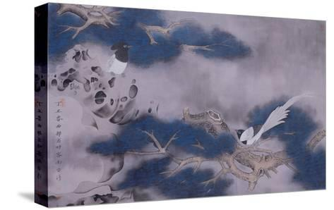 Birds on Pine Tree-Hsi-Tsun Chang-Stretched Canvas Print