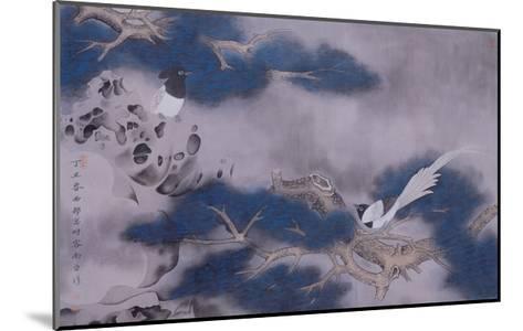 Birds on Pine Tree-Hsi-Tsun Chang-Mounted Giclee Print