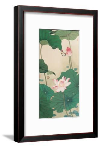 Two Butterflies and Lotuses-Hsi-Tsun Chang-Framed Art Print