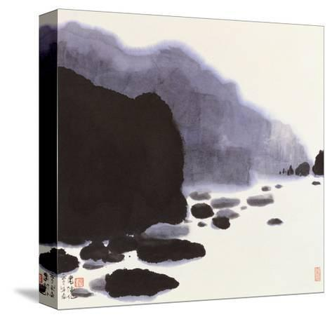 Rocky Brook-Chingkuen Chen-Stretched Canvas Print