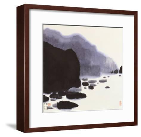 Rocky Brook-Chingkuen Chen-Framed Art Print