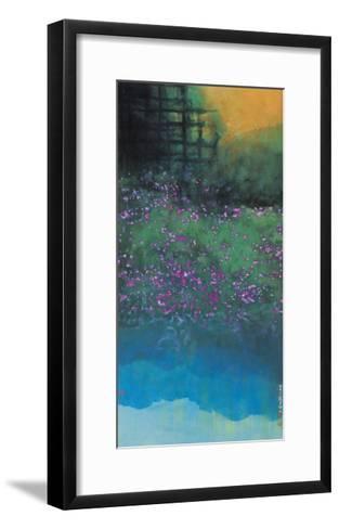 Purple Bellflowers-Chingkuen Chen-Framed Art Print