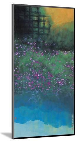 Purple Bellflowers-Chingkuen Chen-Mounted Giclee Print