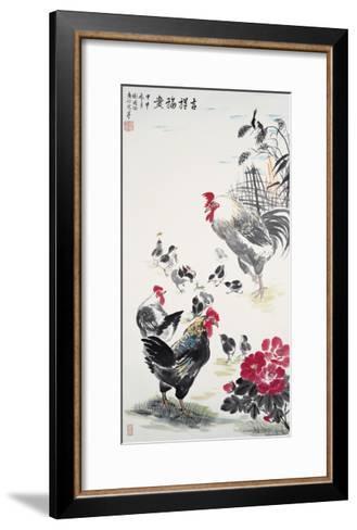 Chicken Family-Guozen Wei-Framed Art Print