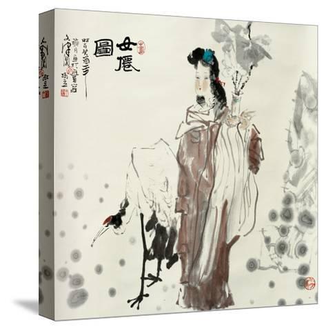 Goddess and Crane-Shuli Wang-Stretched Canvas Print