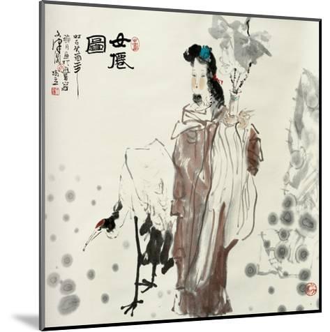 Goddess and Crane-Shuli Wang-Mounted Giclee Print