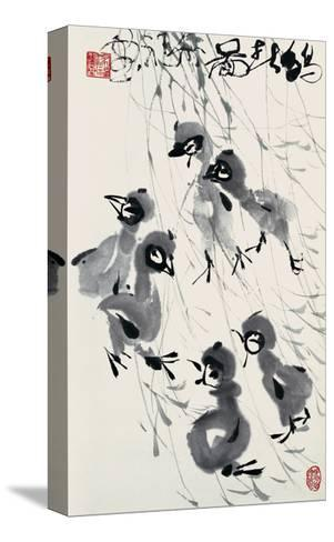 Chicks in Spring-Deng Jiafu-Stretched Canvas Print