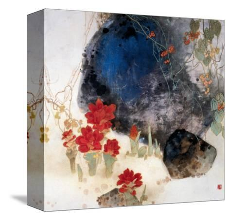 Plants by the Rocks-Minrong Wu-Stretched Canvas Print