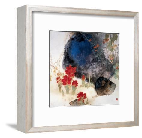 Plants by the Rocks-Minrong Wu-Framed Art Print