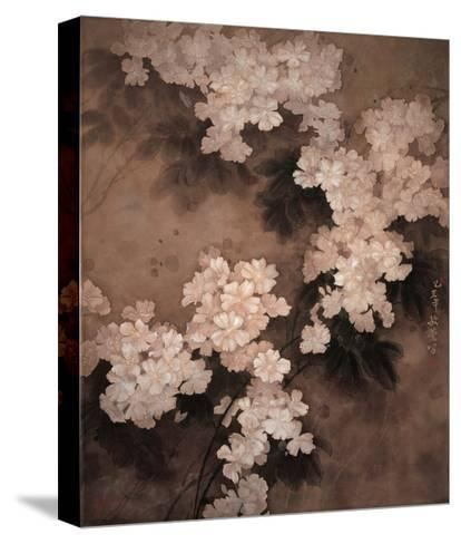 White Flowers-Minrong Wu-Stretched Canvas Print