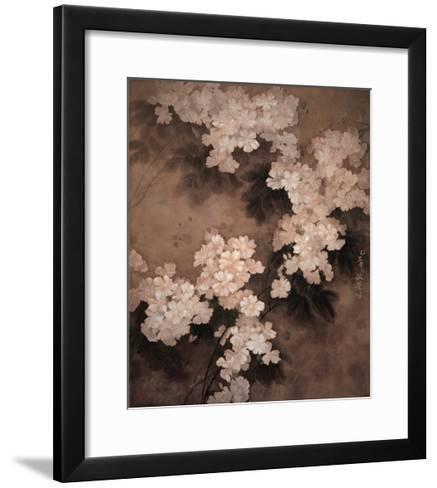 White Flowers-Minrong Wu-Framed Art Print