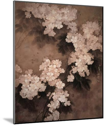 White Flowers-Minrong Wu-Mounted Giclee Print