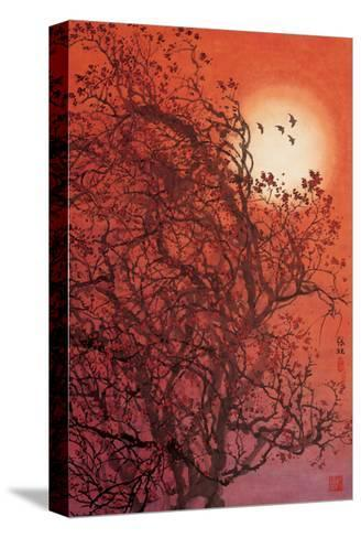 Red Sunset II-Baogui Zhang-Stretched Canvas Print