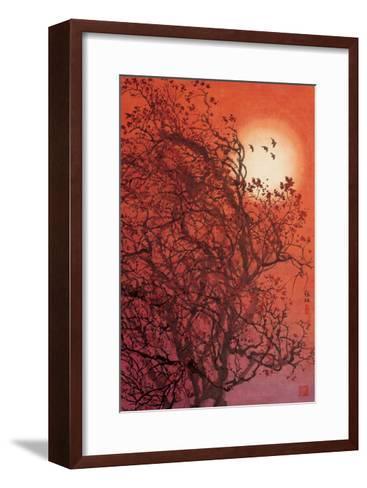 Red Sunset II-Baogui Zhang-Framed Art Print