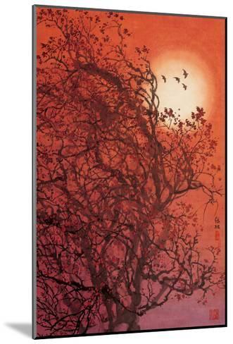 Red Sunset II-Baogui Zhang-Mounted Giclee Print