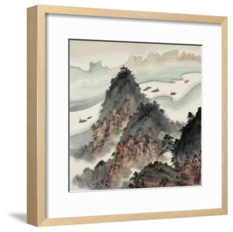 Poetic Li River No. 13-Zishen Zhang-Framed Art Print