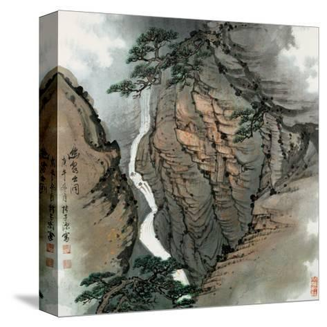 Visiting the Cave No. 18-Zishen Zhang-Stretched Canvas Print