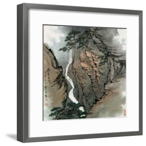 Visiting the Cave No. 18-Zishen Zhang-Framed Art Print