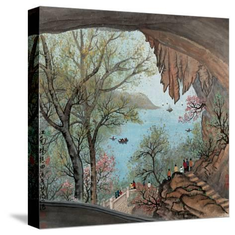 Visiting the Cave No. 22-Zishen Zhang-Stretched Canvas Print