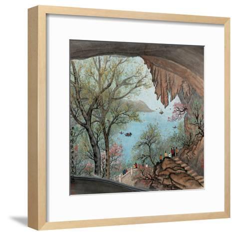 Visiting the Cave No. 22-Zishen Zhang-Framed Art Print