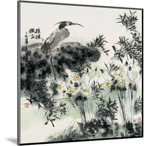 Big Bird and Narcissuses-Wanqi Zhang-Mounted Giclee Print