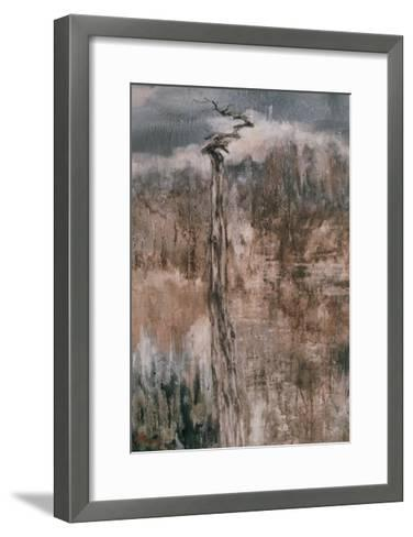 Tree's Spirit and the Reflection-Wanqi Zhang-Framed Art Print